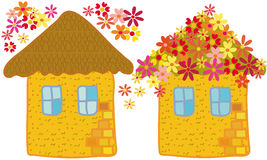 Environmental flowers houses Stock Image