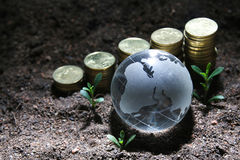 Environmental friendly business - Series 3. Environmental friendly global business concept royalty free stock photography