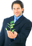Environmental Friendly Businessman Royalty Free Stock Images