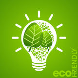 Environmental friendly concept with power Royalty Free Stock Images