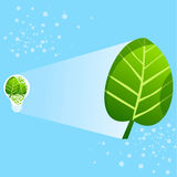 Environmental friendly concept with power Royalty Free Stock Photo