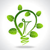 Environmental friendly concept with power. Environmental friendly concept, with bulb Stock Image