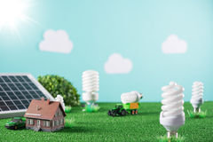 Environmental friendly toy town Stock Photography