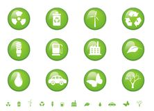 Environmental Glossy Buttons Royalty Free Stock Photo