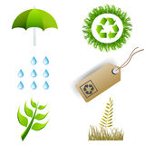 Environmental green elements Stock Images