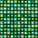 Environmental Green flat icons Royalty Free Stock Photo