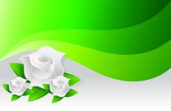 Environmental green flowers illustration Royalty Free Stock Image