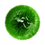Environmental green grassed earth globe Royalty Free Stock Image