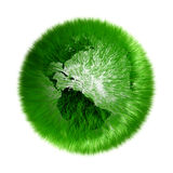 Environmental green grassed earth globe Royalty Free Stock Photography