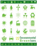 Environmental Green Icons. Set of 22 environmental vector icons Stock Photo