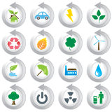 Environmental green icons. Great idea of environmentally friendly concept icons for your website, powerpoint, leaflet etc Royalty Free Stock Image