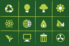 Environmental Green Icons and Graphics. Set of 12 Environmental Green Icons, Graphics, Symbols and Signs Royalty Free Stock Images