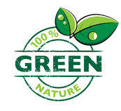Environmental green logo. Illustrated environmental, green logo or design royalty free illustration