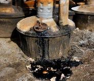 Environmental Hazard. Environmental oil spill hazard Royalty Free Stock Photo