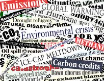 Environmental headlines Royalty Free Stock Photo
