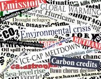 Environmental headlines Royalty Free Stock Photo