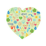 Environmental heart Stock Photos