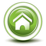 Environmental home button Royalty Free Stock Photo