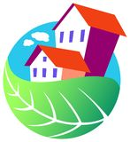Environmental house Royalty Free Stock Photo