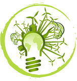 3d Eco Concept Environmental Light Bulb Stock Vector