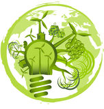 Environmental icon. House and green energy Royalty Free Stock Images