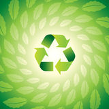 Environmental icon with Eco leaves Royalty Free Stock Photography