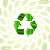 Environmental icon with Eco leaves Royalty Free Stock Images