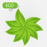 Environmental icon with plant. Royalty Free Stock Photos