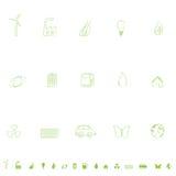 Environmental Icon Set. General environmental symbols icon set Stock Images