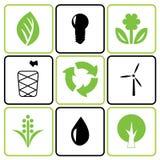 Environmental icon set Royalty Free Stock Images