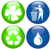 Environmental icon set. Set of ecology and environmental signs Stock Photo