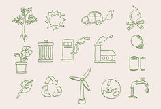 Environmental icon set Stock Image