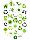 Environmental icons Stock Images