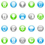 Environmental icons. Set of 20 environmental icons Stock Image