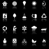 Environmental icons. Set of 20 environmental icons Royalty Free Stock Image