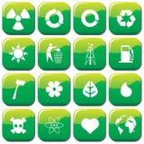 Environmental Icons Royalty Free Stock Photos