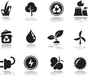 Environmental icons. Environmental green icons  set Stock Images
