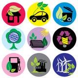 Environmental icons Stock Photography
