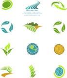 Environmental icons. Set of 12 environmental icons Royalty Free Stock Photo