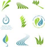 Environmental icons. Set of 9 environmental icons Royalty Free Stock Photography