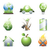 Environmental icons Royalty Free Stock Image