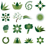 Environmental icons. Sixteen different abstract environmental icons Stock Image