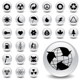 Environmental icons. Vector illustration of environmental icons Stock Photos