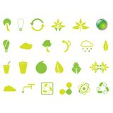 Environmental Icons. Set of 24 environmental designer elements buttons graphics and icons Royalty Free Stock Photography