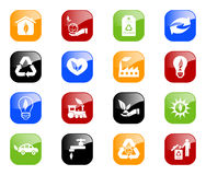 Environmental icons - color series Stock Photography