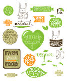 Environmental icons, labels, badges. Collection of environmental badges, labels and icons, all handdrawn with hand lettered text Vector Illustration