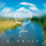 Environmental icons oil production exhaustion of water resources and other. Web interface design. Environmental protection. Royalty Free Stock Photos