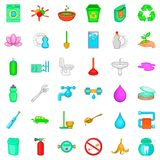 Environmental icons set, cartoon style. Environmental icons set. Cartoon style of 36 environmental vector icons for web isolated on white background Stock Photos
