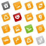 Environmental icons - sticky series Royalty Free Stock Photo