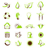 Environmental icons and symbols. vector set. Vector set of editable eco icons Stock Photo